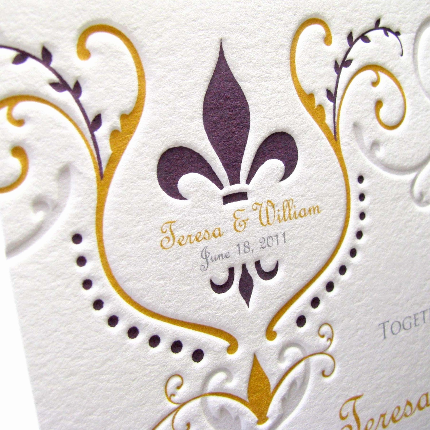 Fleur De Lis Wedding Invitation Unique Items Similar to Fleur De Lis Wedding Invitations On Etsy