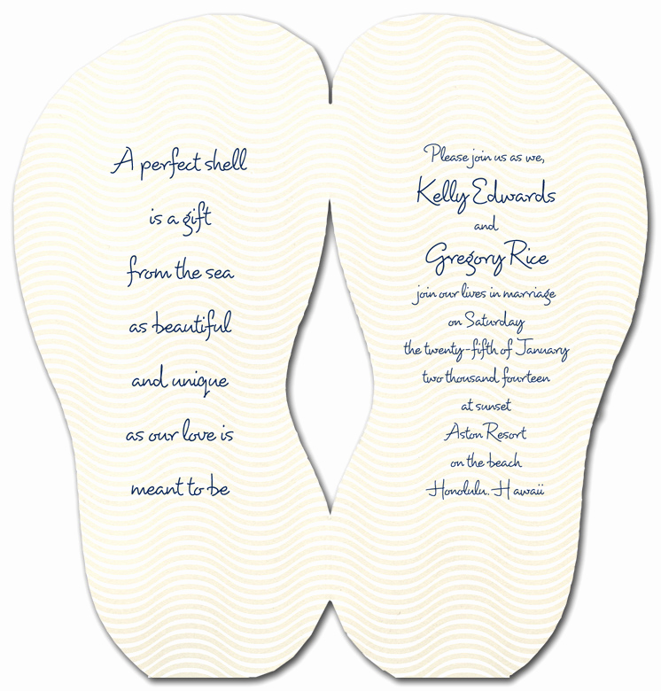 Flip Flop Invitation Template Awesome Flip Flop Shaped Invitation Template