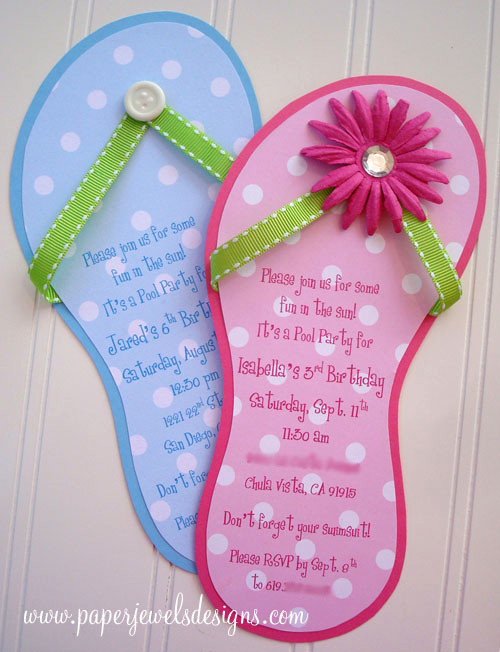 Flip Flop Invitation Template Fresh Flip Flop
