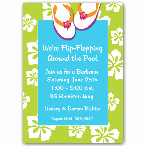 Flip Flop Invitation Template Lovely Bbq Party Invitation Templates Free