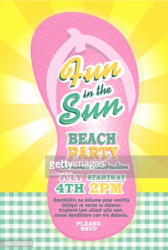 Flip Flop Invitation Template Luxury Cute Pastel Beach Party Flip Flop Template Invitation