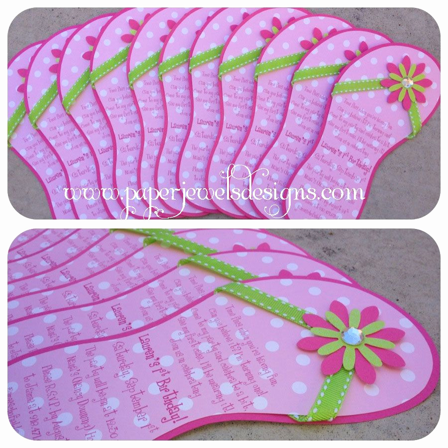 Flip Flop Invitation Template Unique Flip Flop Invitations