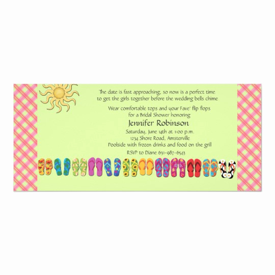 Flip Flop Invitation Template Unique Flip Flops In A Row Invitation