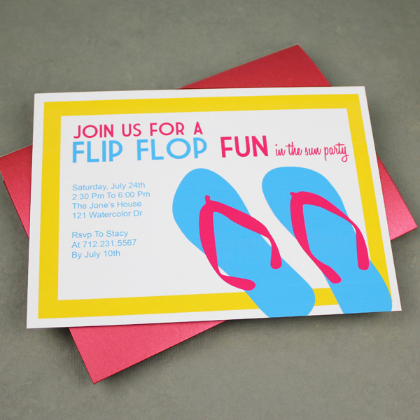 Flip Flop Invitation Template Unique Invitation Template – Flip Flop Design – Download & Print