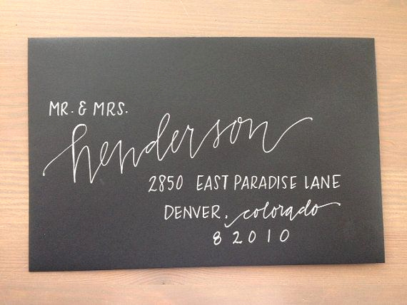 Fonts for Wedding Invitation Envelopes Elegant Best 25 Envelope Addressing Ideas On Pinterest