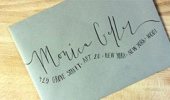 Fonts for Wedding Invitation Envelopes Elegant Handwritten Wedding Invitation Envelopes Wavy