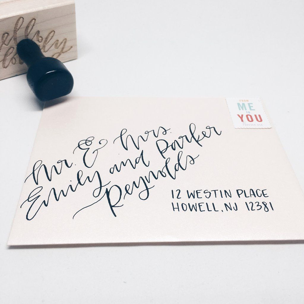 Fonts for Wedding Invitation Envelopes Fresh Envelopes with Hand Lettering — Modern Calligraphy or