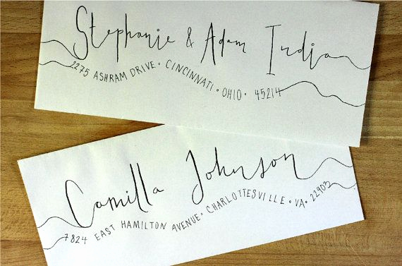 Fonts for Wedding Invitation Envelopes Inspirational Handwritten Wedding Invitation Envelopes Wavy by