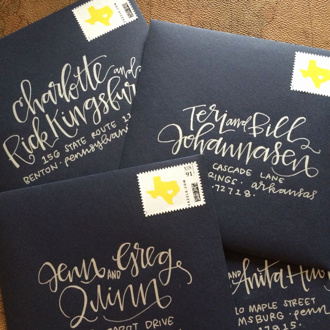 Fonts for Wedding Invitation Envelopes New Envelope Addressing by Laurenish Design Silver On Navy