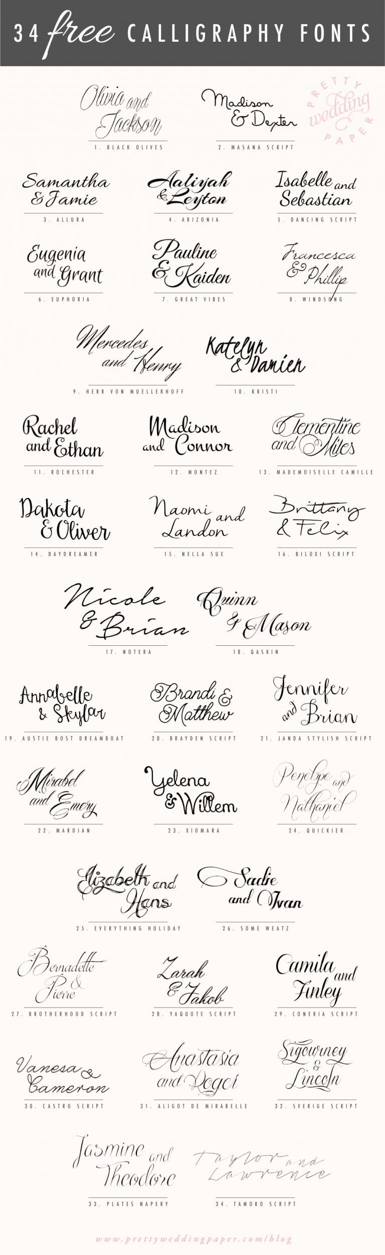 Fonts for Wedding Invitation Envelopes Unique [ฟรี] ดาวน์โหลด 34 ฟอนต์ตัวเขียน ฟอนต์ตัวหนังสือสวยๆ
