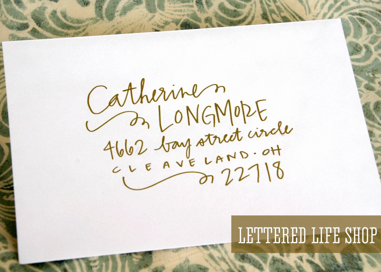 Fonts for Wedding Invitation Envelopes Unique Wedding Calligraphy Envelope Addressing Gold Modern