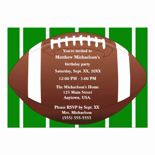 Football Invitation Template Free Awesome Football Birthday Invitation Templates