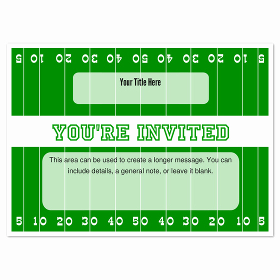 Football Invitation Template Free Awesome Football Field Invitations & Cards On Pingg
