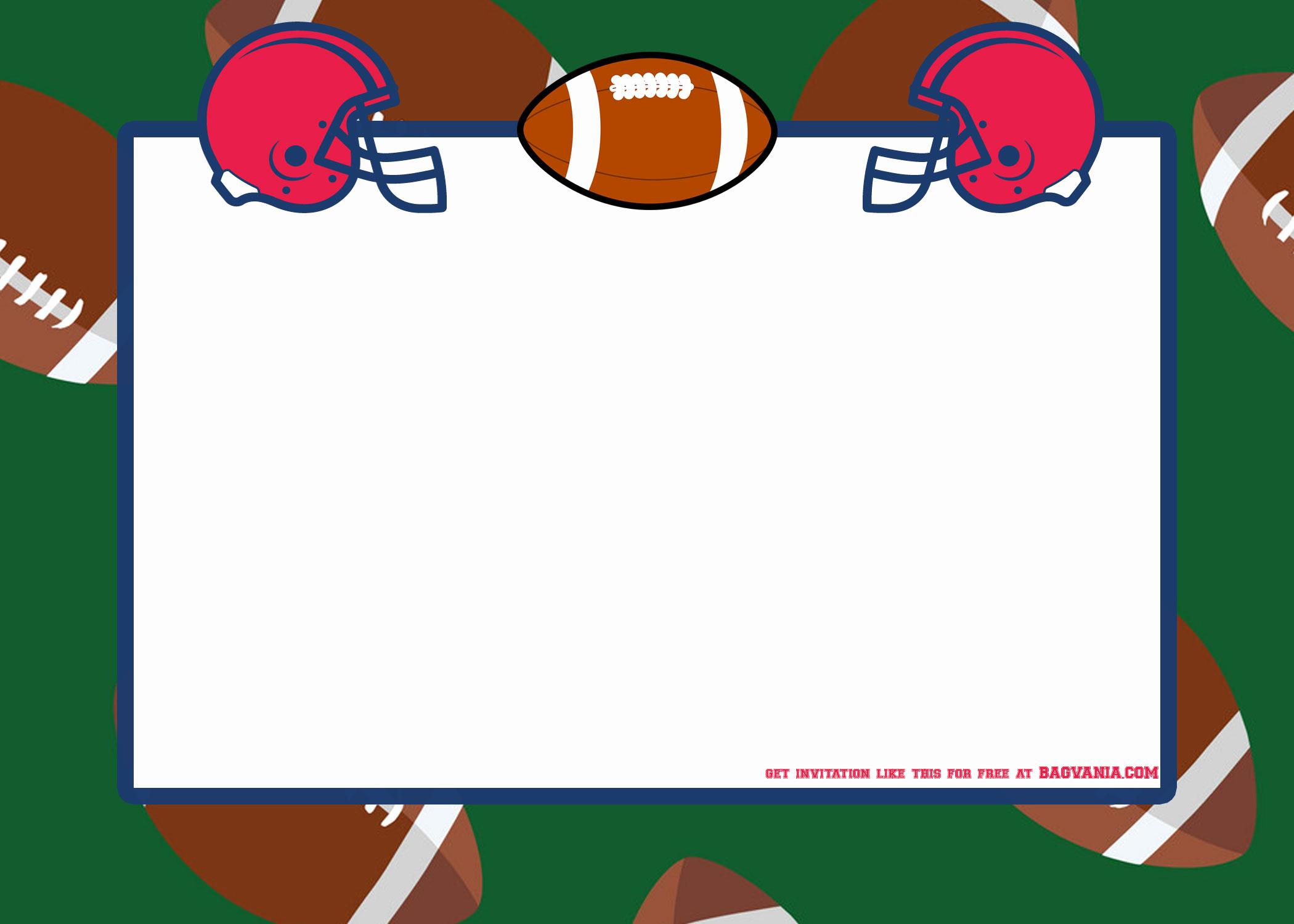 Football Invitation Template Free Awesome Free Football Party Invitation Template – Free Printable