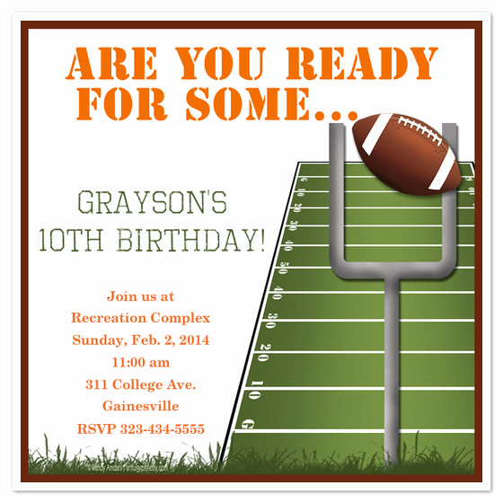 Football Invitation Template Free Beautiful are You Ready for some Football Invitations & Cards On