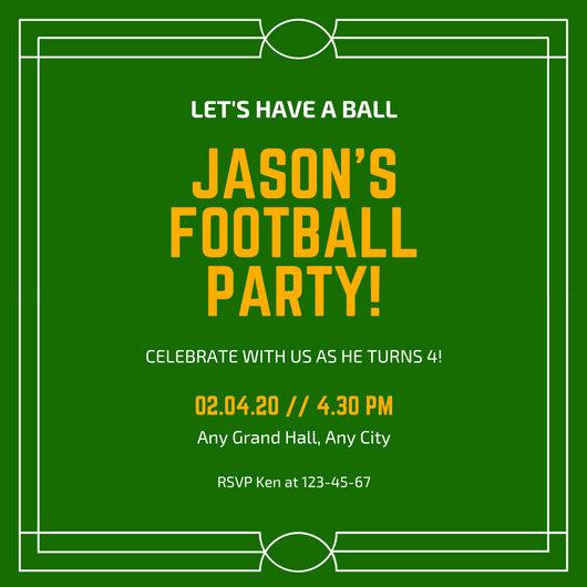 Football Invitation Template Free Beautiful Customize 68 Football Invitation Templates Online Canva