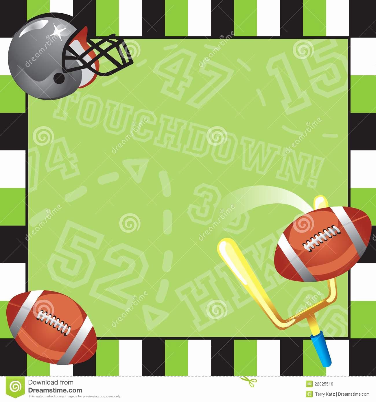 Football Invitation Template Free Beautiful Football Party Invitation Card Royalty Free Stock Image