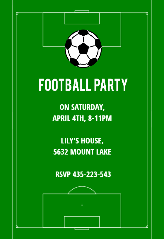 Football Invitation Template Free Beautiful soccer Night Sports & Games Invitation Template Free