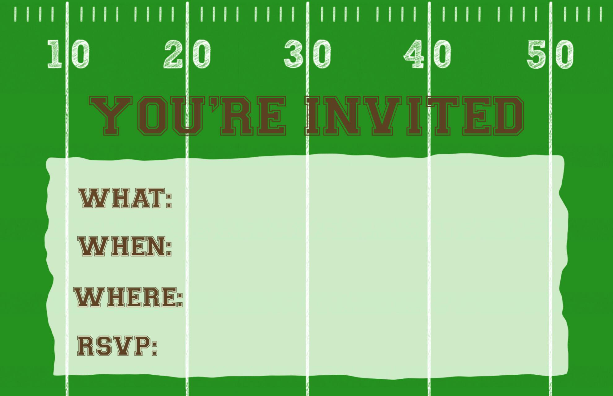Football Invitation Template Free Elegant Football Party Invitation Template Free Printable