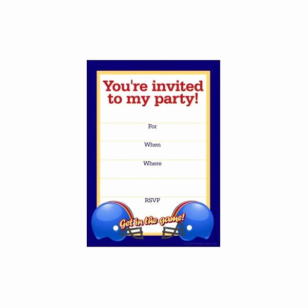 Football Invitation Template Free Luxury Free Football Party Templates to Download From Line sources