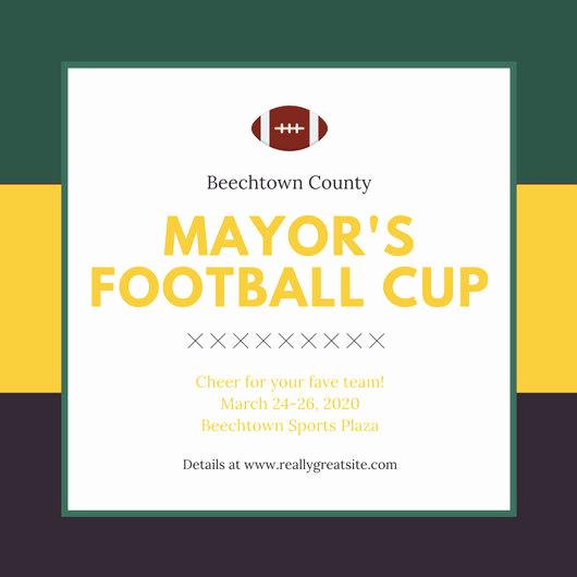 Football Invitation Template Free New Customize 68 Football Invitation Templates Online Canva