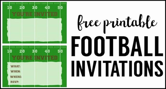 Football Invitation Template Free New Football Party Invitation Template Free Printable