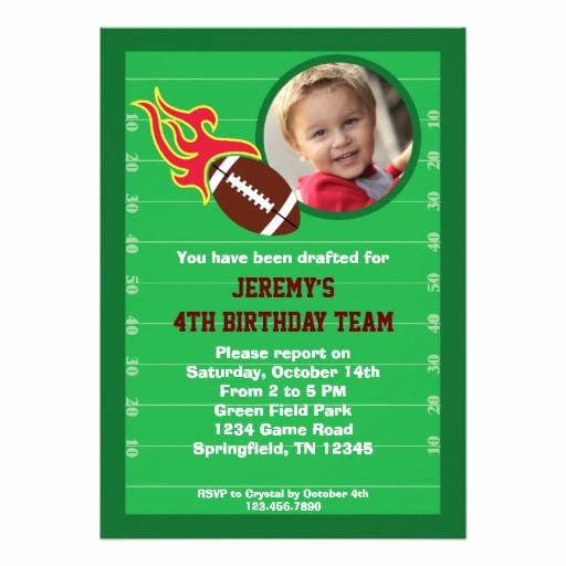 Football Party Invitation Wording Awesome Football themed Birthday Invitation