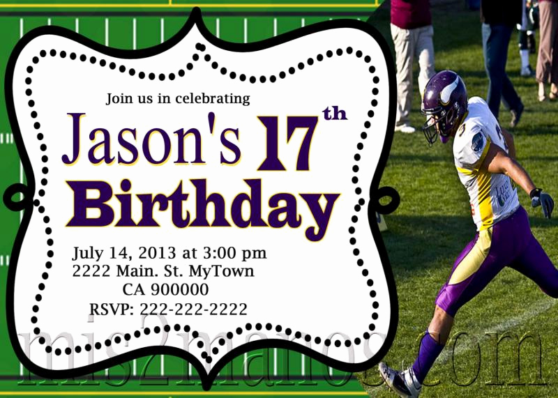 Football Party Invitation Wording Beautiful Football Birthday Invitation Printable by Mis2manos On Zibbet