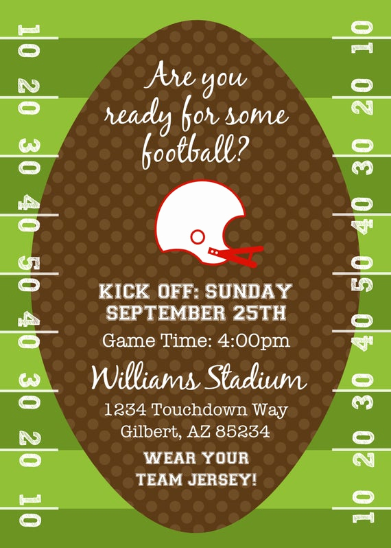 Football Party Invitation Wording Beautiful Party Printable Football or Tailgating theme by