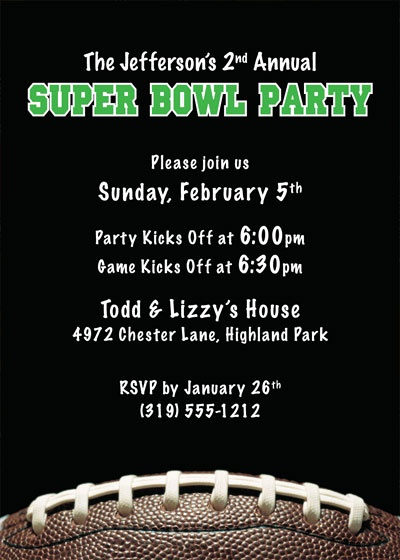 Football Party Invitation Wording Best Of Invites Superbowl Parties