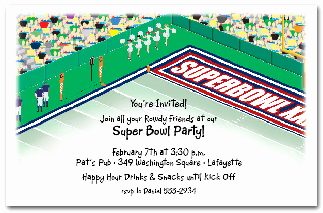 Football Party Invitation Wording Elegant Super Bowl Stadium Party Invitations