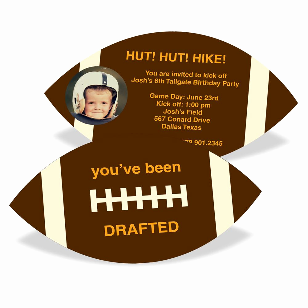 Football Party Invitation Wording Fresh Football Draft Pick with