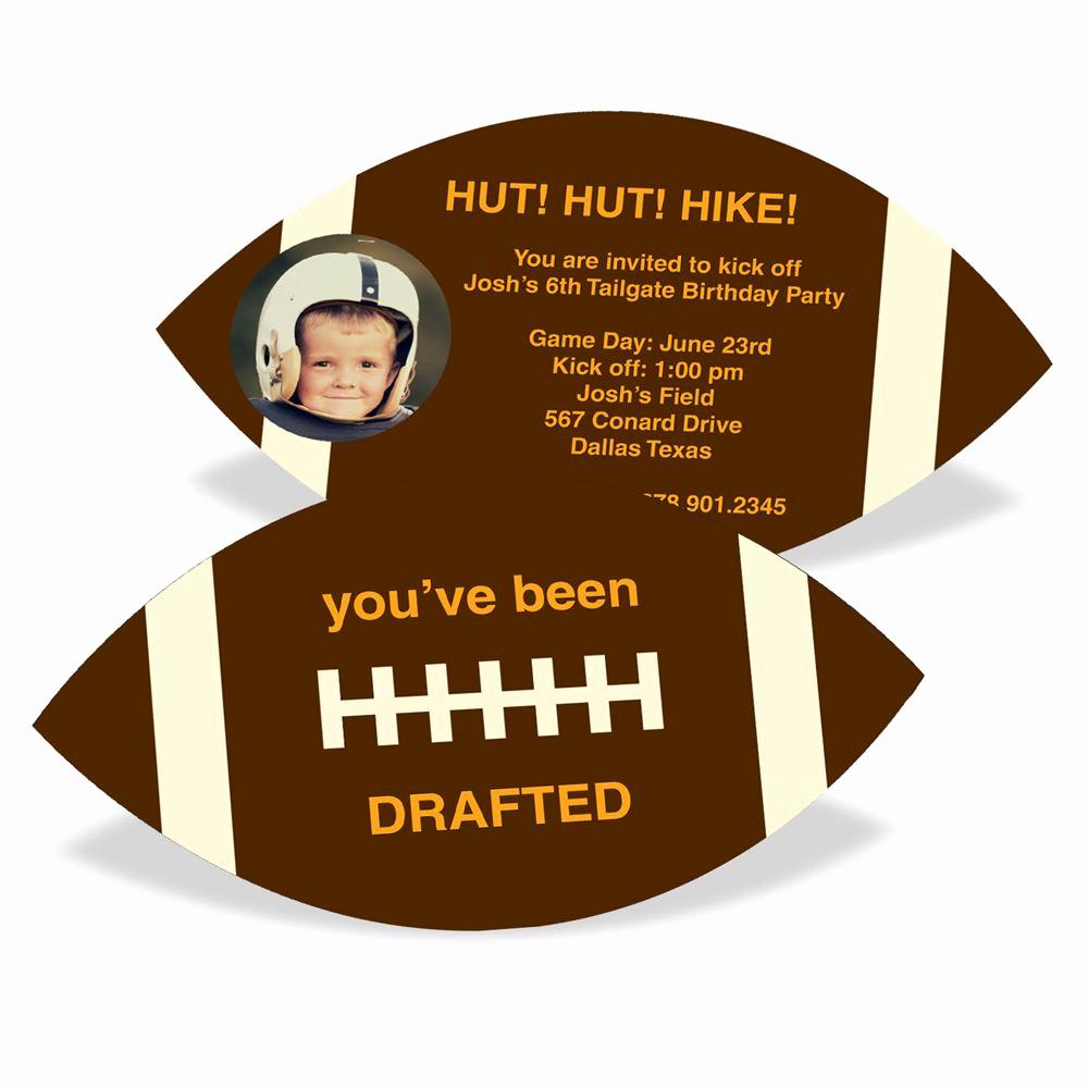 Football Party Invitation Wording Fresh Football Draft Pick with