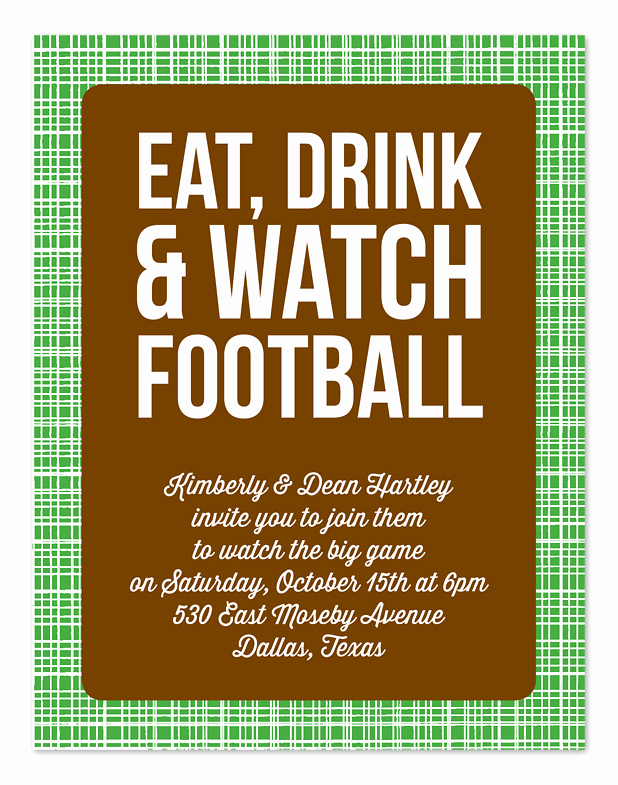 Football Party Invitation Wording Inspirational Watch Football Party Invitations by Invitation