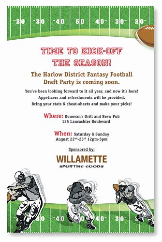Football Party Invitation Wording Lovely Fantasy Football Invitation Pinterest
