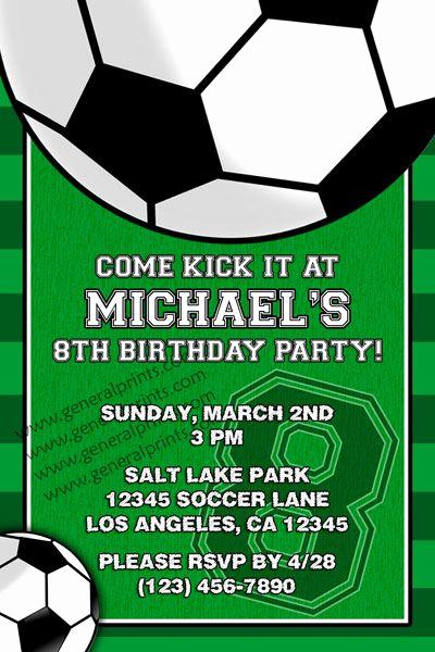 Football Party Invitation Wording Luxury soccer Invitation Invitations Pinterest