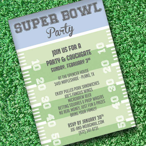 Football Party Invitation Wording New Super Bowl Invitation Template – Download & Print