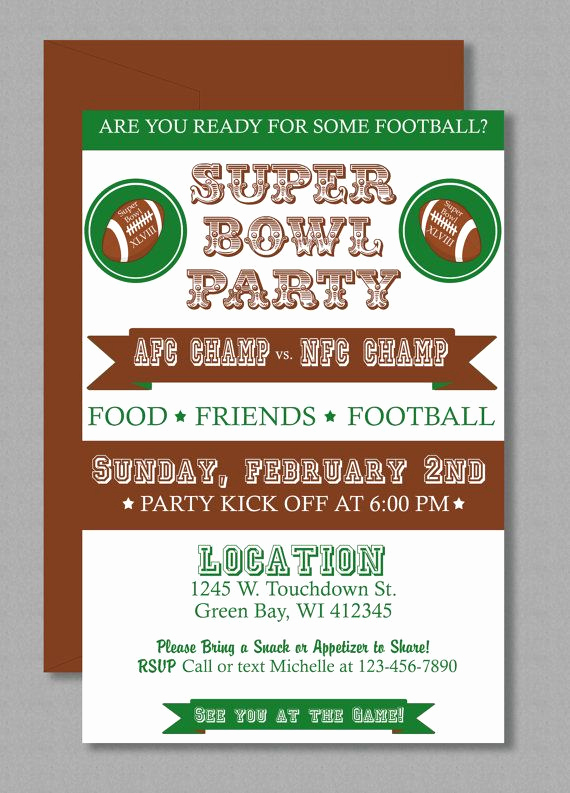 Football Party Invitation Wording New Vintage Super Bowl Invitation Editable Template