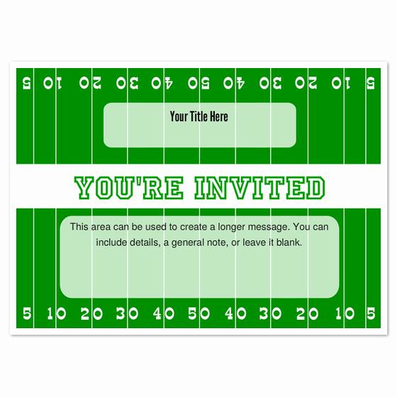 Football Ticket Invitation Template Free Beautiful Football Field Invitations & Cards On Pingg