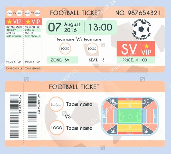 Football Ticket Invitation Template Free Fresh 32 Ticket Templates Psd Ai Word