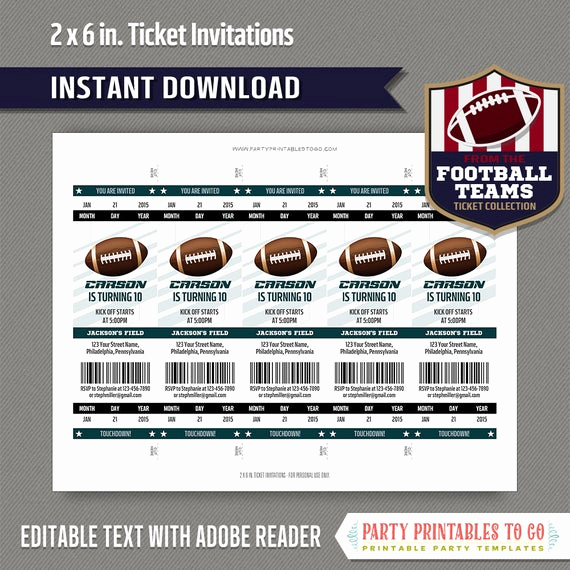 Football Ticket Invitation Template Free Inspirational Football Ticket Invitation Template Green and Black