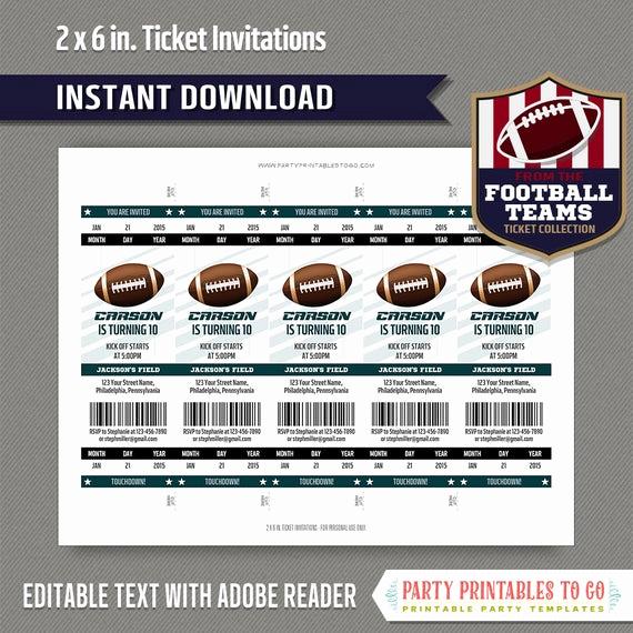 Football Ticket Invitation Template Free Inspirational Football Ticket Invitation Template Green and Black