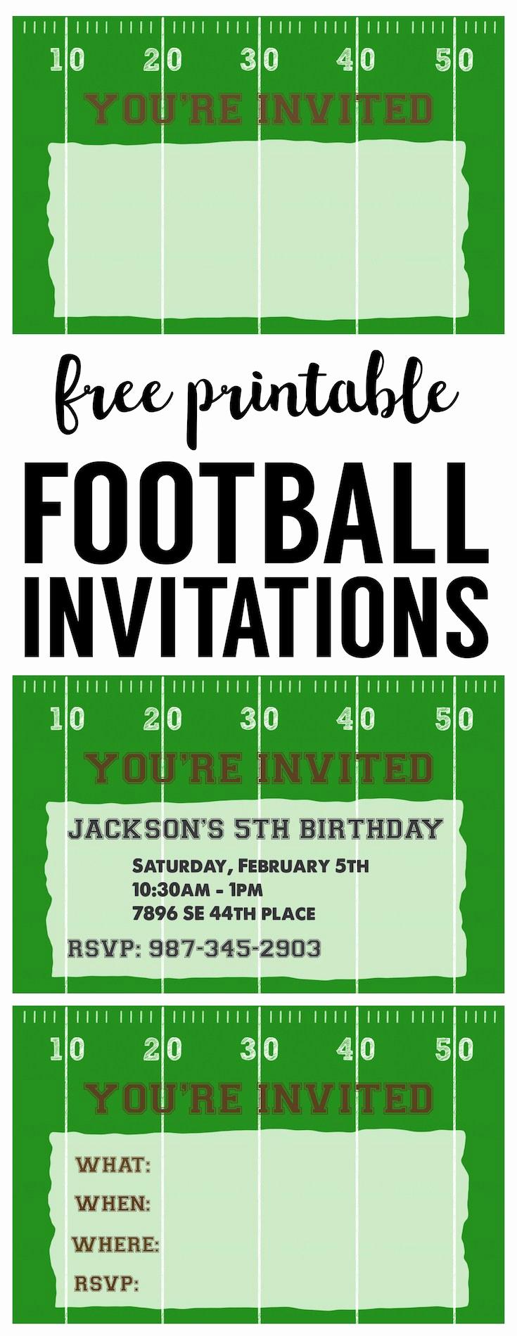 Football Ticket Invitation Template Free Lovely Football Party Invitation Template Free Printable