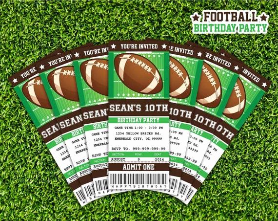 Football Ticket Invitation Template Free Lovely Football Ticket Invitation Printable Instant Download