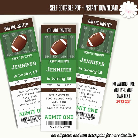Football Ticket Template Invitation Best Of Mer Enn 20 Bra Ideer Om Ticket Template På Pinterest