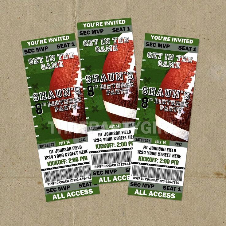 Football Ticket Template Invitation Fresh Best 25 Party Tickets Ideas On Pinterest