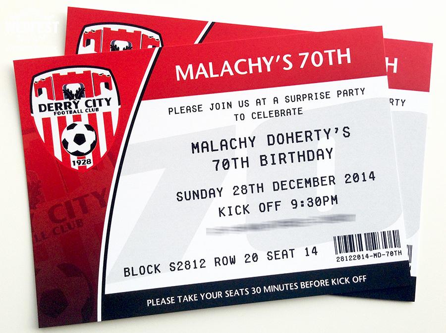 Football Ticket Template Invitation Inspirational Football themed Wedding Stationery