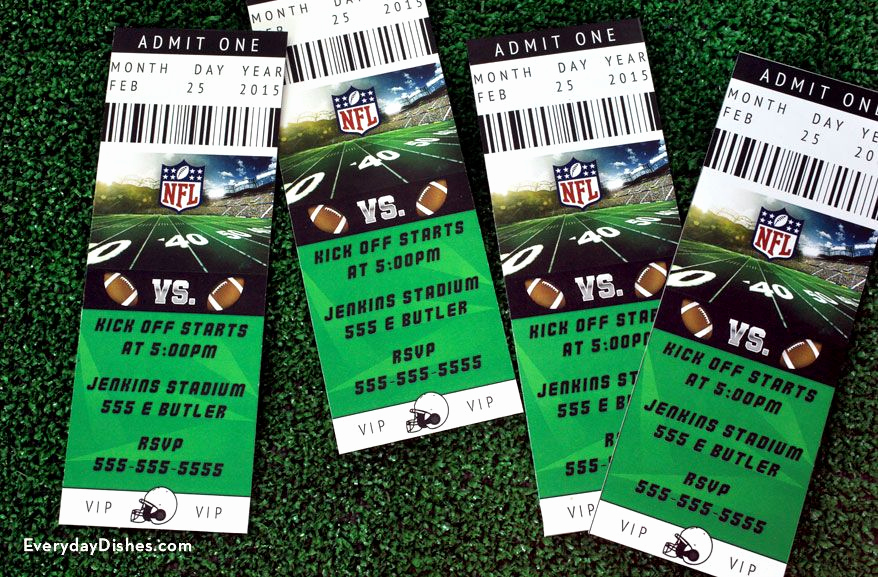 Football Ticket Template Invitation Inspirational Football Ticket Invitations Instructions