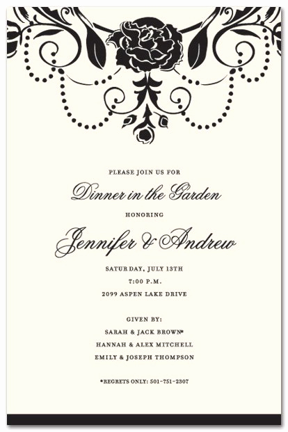 Formal Birthday Invitation Wording Elegant formal Party Invitation Wording