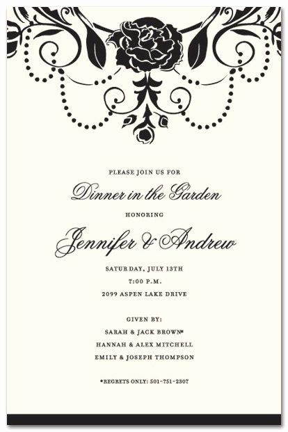 Formal Birthday Invitation Wording Elegant formal Party Invitation Wording